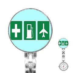Traffic Signs Hospitals, Airplanes, Petrol Stations Stainless Steel Nurses Watch