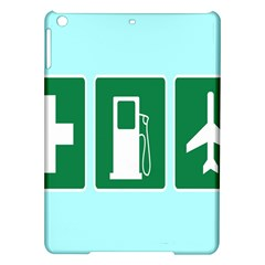 Traffic Signs Hospitals, Airplanes, Petrol Stations iPad Air Hardshell Cases