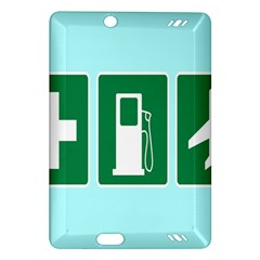 Traffic Signs Hospitals, Airplanes, Petrol Stations Amazon Kindle Fire HD (2013) Hardshell Case