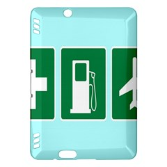 Traffic Signs Hospitals, Airplanes, Petrol Stations Kindle Fire HDX Hardshell Case