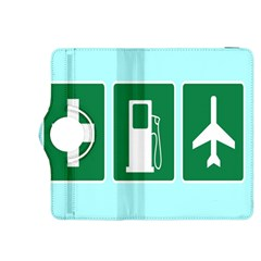 Traffic Signs Hospitals, Airplanes, Petrol Stations Kindle Fire HDX 8.9  Flip 360 Case