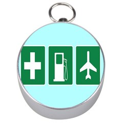 Traffic Signs Hospitals, Airplanes, Petrol Stations Silver Compasses