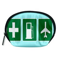Traffic Signs Hospitals, Airplanes, Petrol Stations Accessory Pouches (Medium)