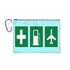 Traffic Signs Hospitals, Airplanes, Petrol Stations Canvas Cosmetic Bag (M)