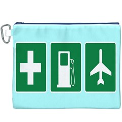 Traffic Signs Hospitals, Airplanes, Petrol Stations Canvas Cosmetic Bag (XXXL)