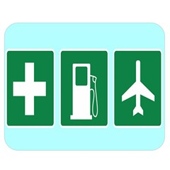 Traffic Signs Hospitals, Airplanes, Petrol Stations Double Sided Flano Blanket (Medium)