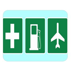 Traffic Signs Hospitals, Airplanes, Petrol Stations Double Sided Flano Blanket (Large)
