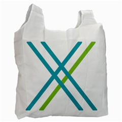 Symbol X Blue Green Sign Recycle Bag (One Side)