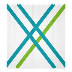 Symbol X Blue Green Sign Shower Curtain 66  x 72  (Large)