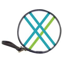 Symbol X Blue Green Sign Classic 20-CD Wallets