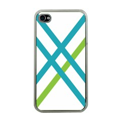 Symbol X Blue Green Sign Apple iPhone 4 Case (Clear)