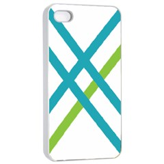 Symbol X Blue Green Sign Apple iPhone 4/4s Seamless Case (White)