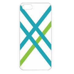 Symbol X Blue Green Sign Apple iPhone 5 Seamless Case (White)