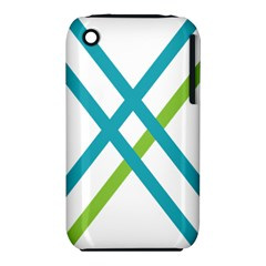 Symbol X Blue Green Sign iPhone 3S/3GS