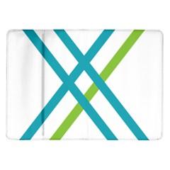 Symbol X Blue Green Sign Samsung Galaxy Tab 10.1  P7500 Flip Case