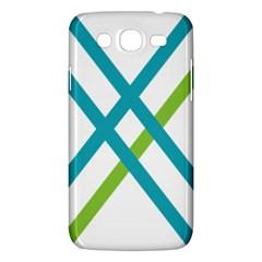 Symbol X Blue Green Sign Samsung Galaxy Mega 5.8 I9152 Hardshell Case