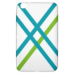 Symbol X Blue Green Sign Samsung Galaxy Tab 3 (8 ) T3100 Hardshell Case