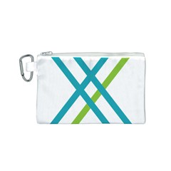 Symbol X Blue Green Sign Canvas Cosmetic Bag (S)