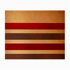 Vintage Striped Polka Dot Red Brown Small Glasses Cloth (2-Side)
