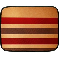 Vintage Striped Polka Dot Red Brown Double Sided Fleece Blanket (Mini)