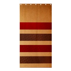 Vintage Striped Polka Dot Red Brown Shower Curtain 36  x 72  (Stall)