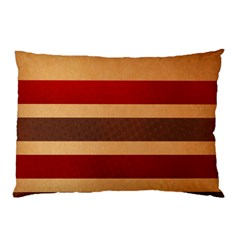 Vintage Striped Polka Dot Red Brown Pillow Case (Two Sides)