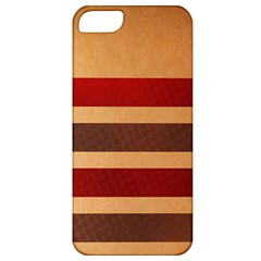 Vintage Striped Polka Dot Red Brown Apple iPhone 5 Classic Hardshell Case