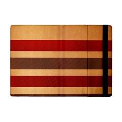 Vintage Striped Polka Dot Red Brown Apple iPad Mini Flip Case