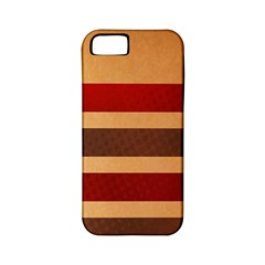 Vintage Striped Polka Dot Red Brown Apple iPhone 5 Classic Hardshell Case (PC+Silicone)