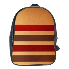 Vintage Striped Polka Dot Red Brown School Bags (XL)