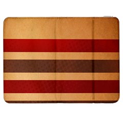 Vintage Striped Polka Dot Red Brown Samsung Galaxy Tab 7  P1000 Flip Case