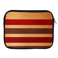 Vintage Striped Polka Dot Red Brown Apple iPad 2/3/4 Zipper Cases