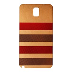 Vintage Striped Polka Dot Red Brown Samsung Galaxy Note 3 N9005 Hardshell Back Case