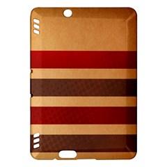 Vintage Striped Polka Dot Red Brown Kindle Fire HDX Hardshell Case