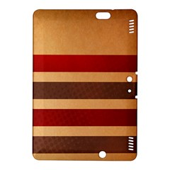 Vintage Striped Polka Dot Red Brown Kindle Fire HDX 8.9  Hardshell Case