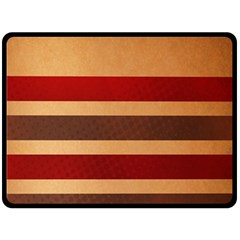 Vintage Striped Polka Dot Red Brown Double Sided Fleece Blanket (Large)