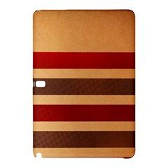 Vintage Striped Polka Dot Red Brown Samsung Galaxy Tab Pro 12.2 Hardshell Case