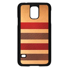 Vintage Striped Polka Dot Red Brown Samsung Galaxy S5 Case (black)