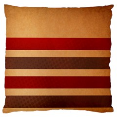 Vintage Striped Polka Dot Red Brown Large Flano Cushion Case (One Side)