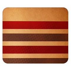 Vintage Striped Polka Dot Red Brown Double Sided Flano Blanket (Small)