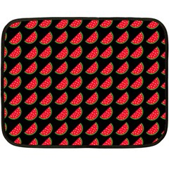 Watermelon Slice Red Black Fruite Double Sided Fleece Blanket (Mini)