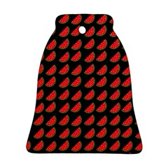 Watermelon Slice Red Black Fruite Bell Ornament (Two Sides)