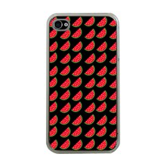 Watermelon Slice Red Black Fruite Apple iPhone 4 Case (Clear)