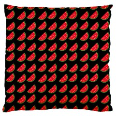 Watermelon Slice Red Black Fruite Large Cushion Case (One Side)
