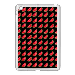 Watermelon Slice Red Black Fruite Apple iPad Mini Case (White)