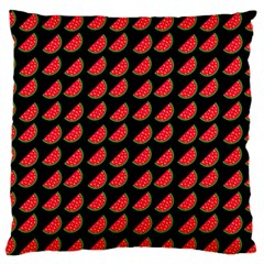 Watermelon Slice Red Black Fruite Large Flano Cushion Case (One Side)