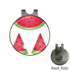 Watermelon Slice Red Green Fruite Hat Clips with Golf Markers