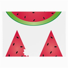 Watermelon Slice Red Green Fruite Large Glasses Cloth