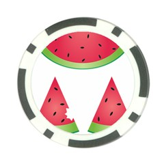 Watermelon Slice Red Green Fruite Poker Chip Card Guard