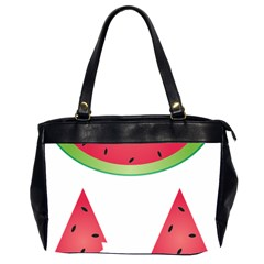 Watermelon Slice Red Green Fruite Office Handbags (2 Sides)